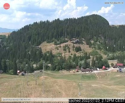 Jasenská Dolina webcam at lunchtime today