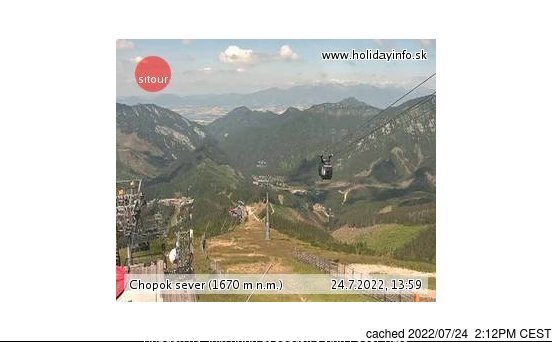 Jasná - Chopok webcam at lunchtime today