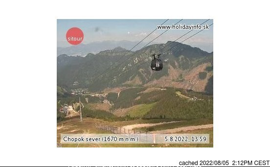 Jasná - Chopok webcam at 2pm yesterday