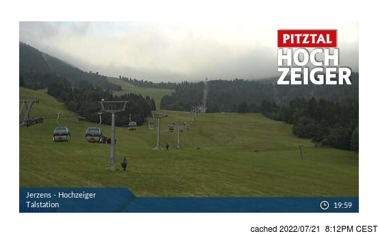 Jerzensの雪を表すウェブカメラのライブ映像
