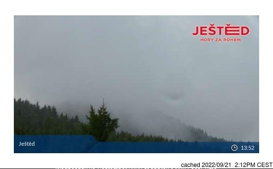 Ještěd webcam at lunchtime today