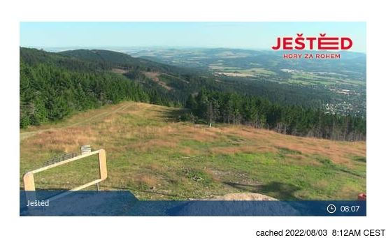 Live Snow webcam for Ještěd