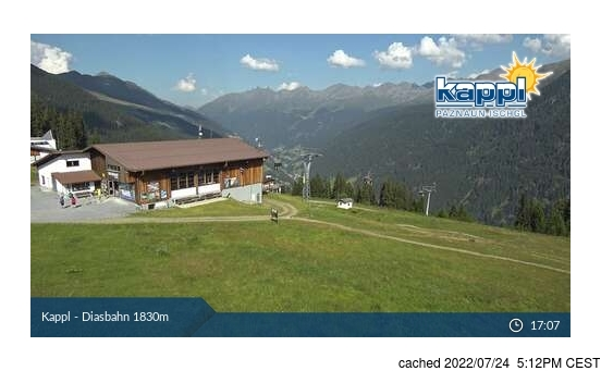 Live Snow webcam for Kappl
