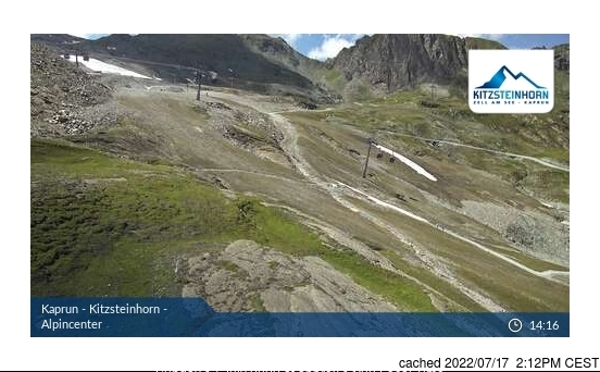 Kaprun webcam at lunchtime today
