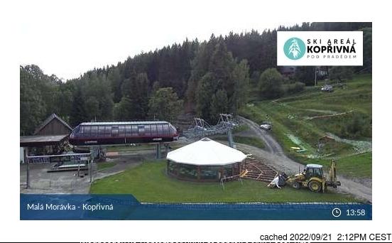 Karlov - Malá Morávka - Kopřivná webcam at lunchtime today