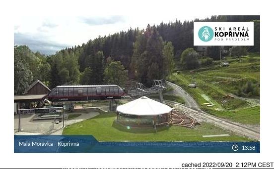Karlov - Malá Morávka - Kopřivná webcam at 2pm yesterday