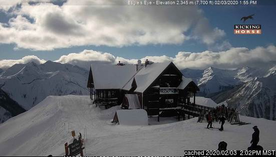 Webcam de Kicking Horse à 14h hier