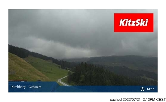 Kirchberg Webcam gestern um 14.00Uhr