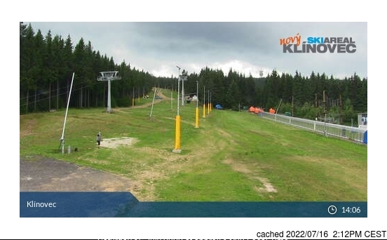 Klínovec webcam at lunchtime today
