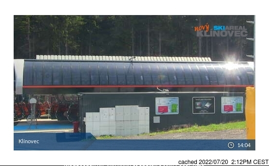 Klínovec webcam at lunchtime today