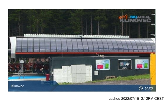 dün saat 14:00'te Klínovec'deki webcam