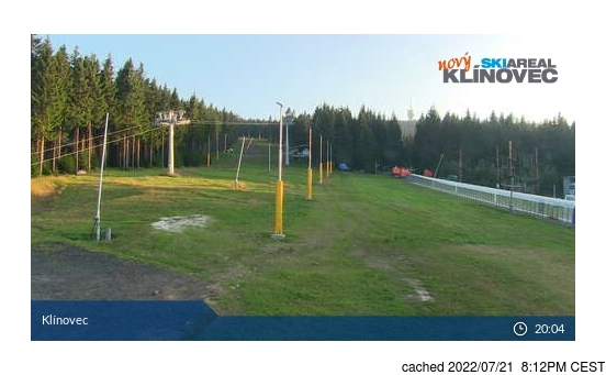Live Snow webcam for Klínovec