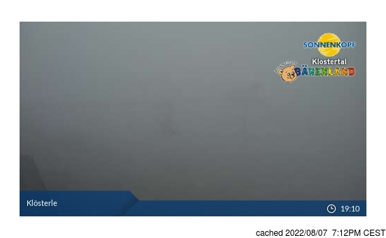 Live Snow webcam for Klösterle/Sonnenkopf