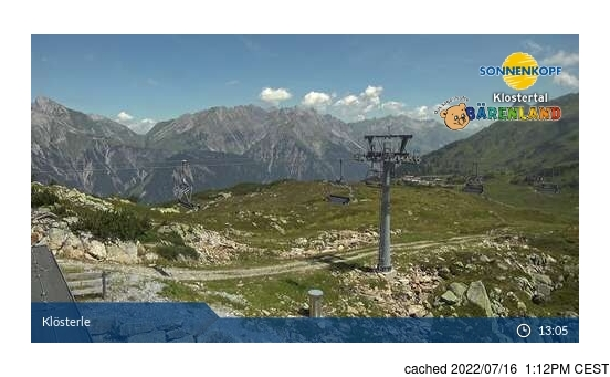 Živá webkamera pro středisko Klösterle/Sonnenkopf