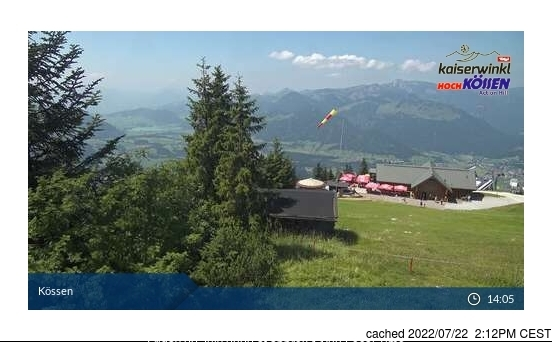 Koessen-Hochkoessen/Unterberghorn webcam at lunchtime today