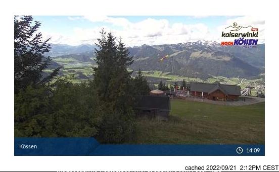 Koessen-Hochkoessen/Unterberghorn webkamera v době oběda