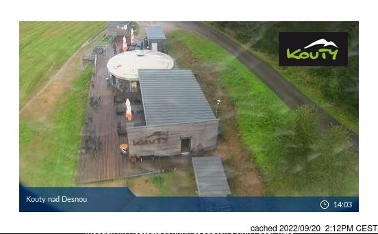 Kouty nad Desnou webcam at 2pm yesterday