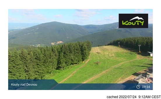 Live Snow webcam for Kouty nad Desnou