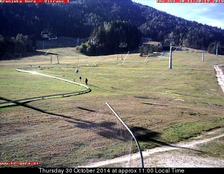 Kranjska Gora webcam at lunchtime today