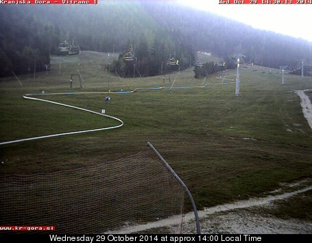 Kranjska Gora webcam at 2pm yesterday