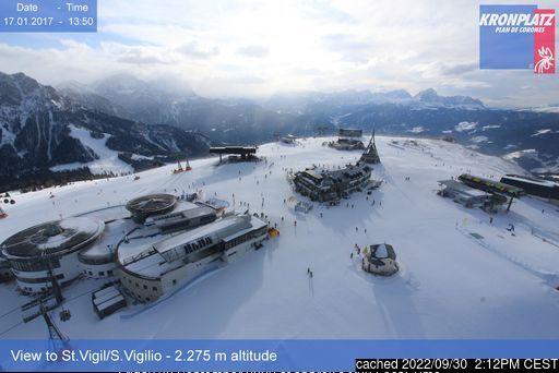 Kronplatz webcam at lunchtime today