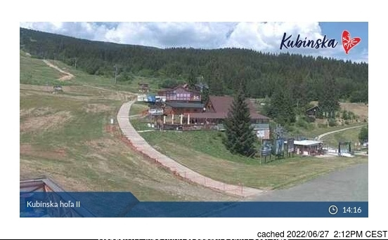 Kubinska Hola webcam at lunchtime today