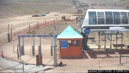 dün saat 14:00'te La Parva'deki webcam