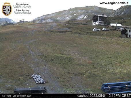 La Thuile Webcam gestern um 14.00Uhr
