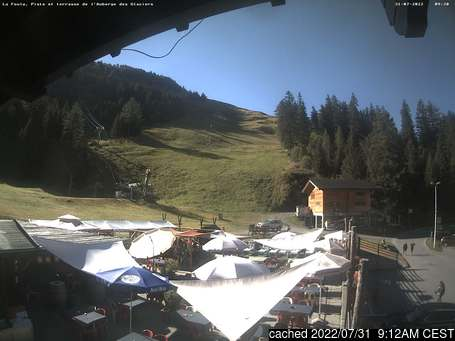 Live Snow webcam for La Fouly - Val Ferret