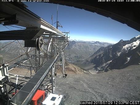 La Grave-La Meije webcam às 14h de ontem