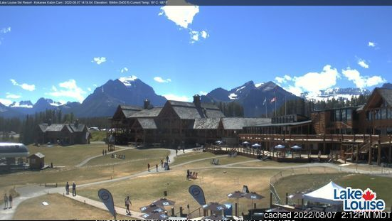 Lake Louise webcam all'ora di pranzo di oggi