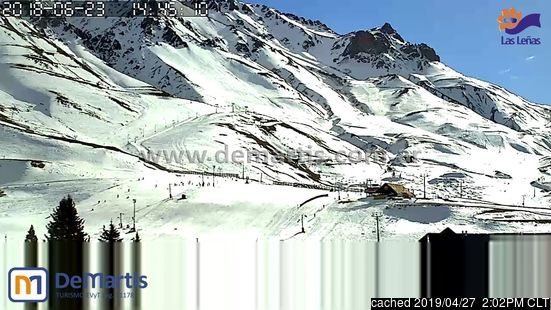Las Leñas webcam at 2pm yesterday