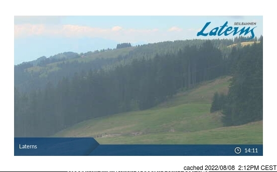 Laternser Tal webcam at lunchtime today