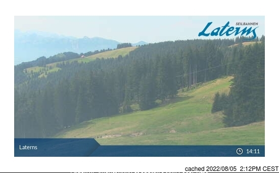 Laternser Tal webcam at 2pm yesterday