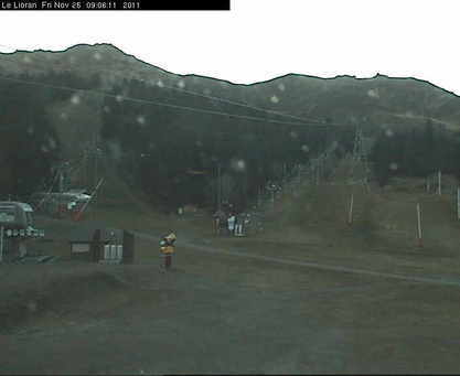 Le Lioran webcam at 2pm yesterday
