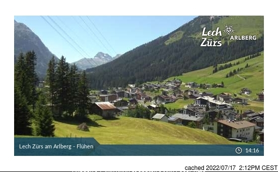 Lech webcam at lunchtime today