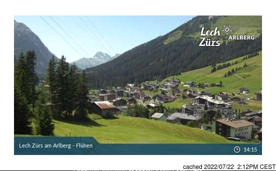 Lech webcam at 2pm yesterday