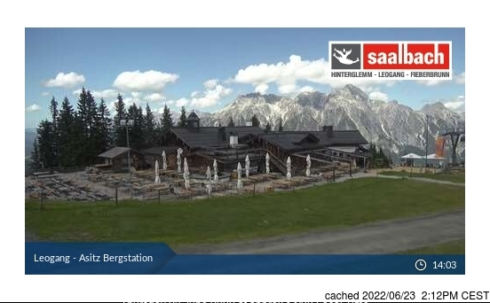 Leogang webcam at 2pm yesterday