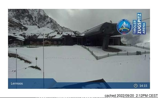 dün saat 14:00'te Lermoos'deki webcam
