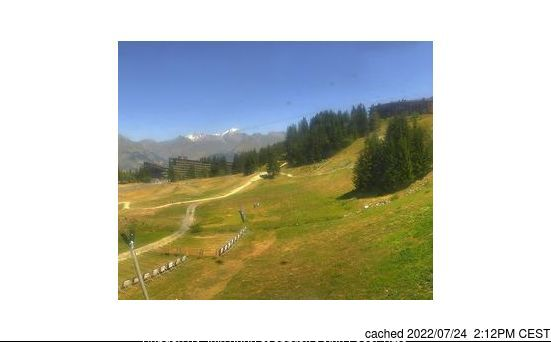 Les Arcs webcam at 2pm yesterday