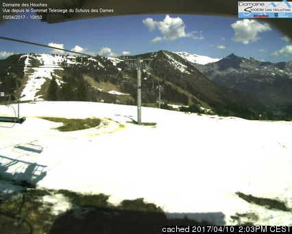 Les Houches webcam at 2pm yesterday