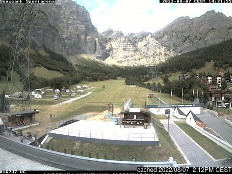 Leukerbad webcam at 2pm yesterday