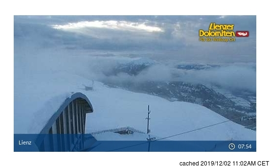 Lienzer Dolomiten webkamera v době oběda