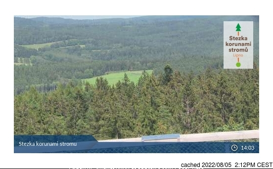 Lipno - Kramolín webcam at 2pm yesterday