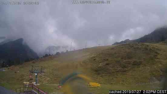 Lizzola Valbondione webcam at 2pm yesterday