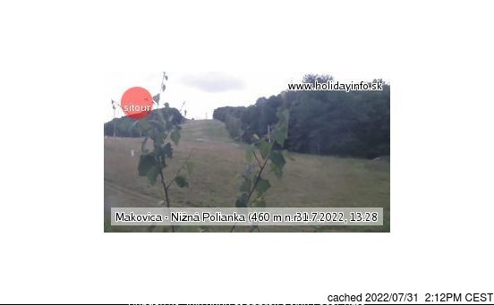 Makovica - Nižná Polianka webcam at lunchtime today