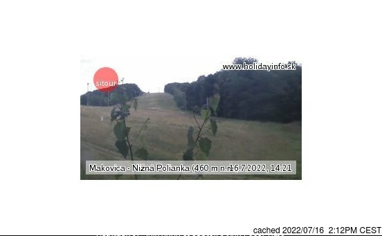 Makovica - Nižná Polianka webcam at 2pm yesterday