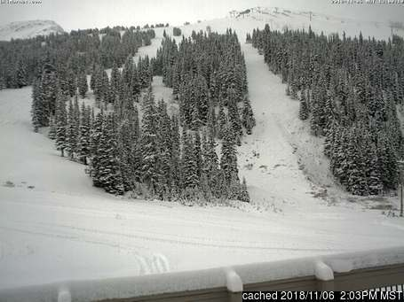 Marmot Basin webcam at lunchtime today
