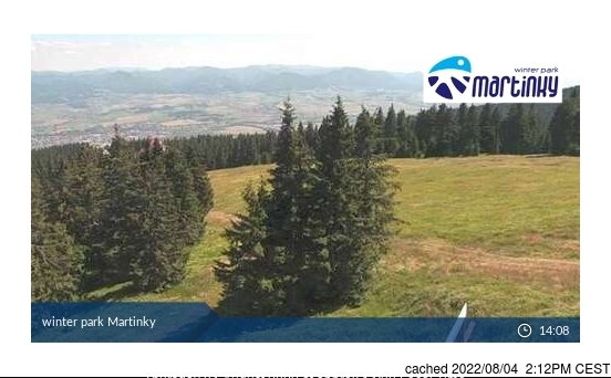 Martinky webcam at 2pm yesterday