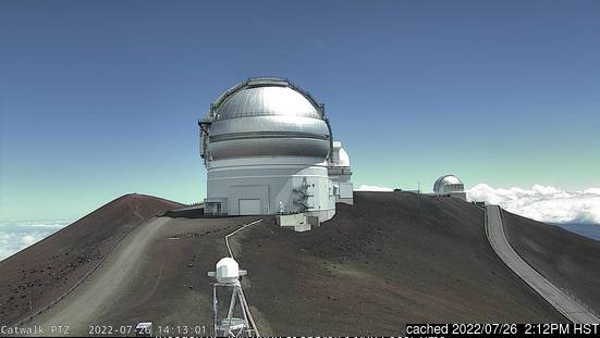Mauna Kea webcam at 2pm yesterday